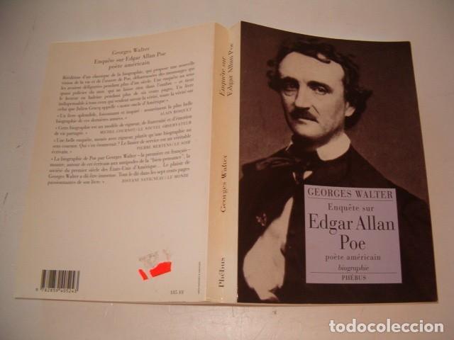 GEORGES WALTER. ENQUÊTE SUR EDGAR ALLAN POE, POÈTE AMÉRICAIN. BIOGRAPHIE. RM76567. (Libros de Segunda Mano - Biografías)