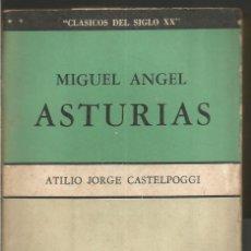 Libros de segunda mano: ATILIO JORGE CASTELPOGGI. MIGUEL ANGEL ASTURIAS. EDITORIAL LA MANDRAGORA. Lote 68948945