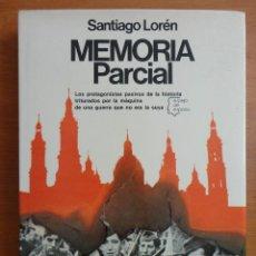 Libros de segunda mano: MEMORIA PARCIAL , FINALISTA PREMIO ESPEJO DE ESPAÑA , 1978. Lote 70266313