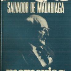 Libros de segunda mano: MEMORIAS. AMANECER SIN MEDIDA. SALVADOR DE MADARIAGA. ESPASA-CALPE. MADRID. 1974. Lote 72944687