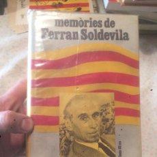 Libros de segunda mano: ANTIGUO LIBRO AL LLARG DE LA MEVA VIDA MEMÒRIES DE FERRAN SOLDEVILA AÑO 1972. Lote 73973255