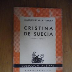 Second hand books - CRISTINA DE SUECIA MARQUES DE VILLA URRUTIA COLAECCION AUSTRAL ESPASA CALPE 1942 - 76155019