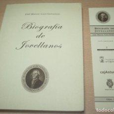 Libros de segunda mano: BIOGRAFÍA DE JOVELLANOS - JOSE MIGUEL CASO GONZÁLEZ - CON MARCAPÁGINAS. Lote 76802251