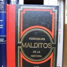 Libros de segunda mano: PERSONAJES MALDITOS DE LA HISTORIA: EL MARQUÉS DE SADE, EL DIABLO, CAGLIOSTRO. BIOGRAFÍA, ESOTERISMO. Lote 97015794