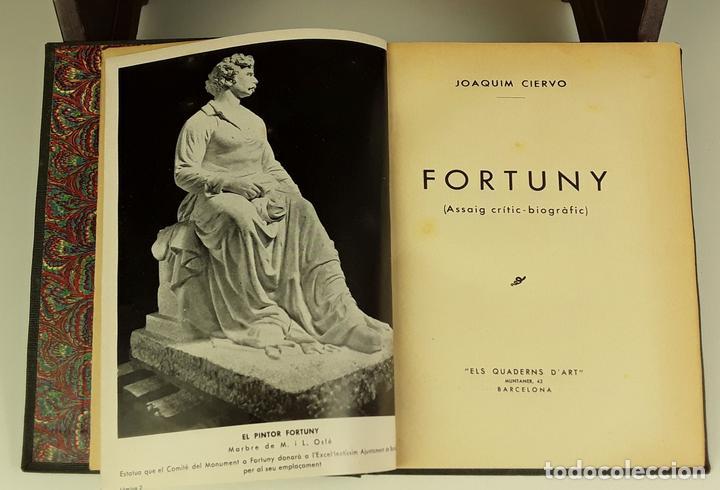 FORTUNY. EJEMPLAR CON DEDICATORIA Y FIRMA. JOAQUIM CIERVO. EDI. ELS CUADERNS D'ART. 1938?. (Libros de Segunda Mano - Biografías)