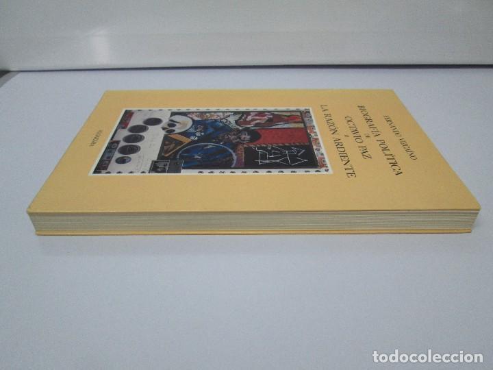 Libros de segunda mano: BIOGRAFIA POLITICA DE OCTAVIO PAZ O LA RAZON ARDIENTE. FERNANDO VIZCAINO. ALGAZARA 1993. VER FOTOS - Foto 4 - 85213612