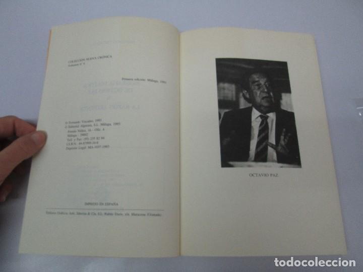 Libros de segunda mano: BIOGRAFIA POLITICA DE OCTAVIO PAZ O LA RAZON ARDIENTE. FERNANDO VIZCAINO. ALGAZARA 1993. VER FOTOS - Foto 8 - 85213612