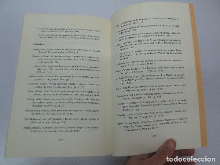 Libros de segunda mano: BIOGRAFIA POLITICA DE OCTAVIO PAZ O LA RAZON ARDIENTE. FERNANDO VIZCAINO. ALGAZARA 1993. VER FOTOS - Foto 18 - 85213612