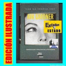 Libros de segunda mano: CON SU PROPIA VOZ - AVA GARDNER - TRADUCCIÓN Y PRÓLOGO DE LUCIA GRAVES - GRIJALBO - EXCELENTE. Lote 85567196
