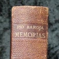 Libros de segunda mano: MEMORIAS - PIO BAROJA - MINOTAURO - 1955 - PLENA PIEL - CON FOTOGRAFIAS - 1357 PÁGINAS. Lote 86210184