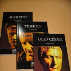 Libros de segunda mano: SUETONIO: JULIO CÉSAR, TIBERIO Y AUGUSTO, COMPLETA TRES LIBROS, ROMA, ROMANOS, ERCOM C1. Lote 86304316