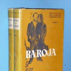 Libros de segunda mano: BAROJA Y SU MUNDO (2 TOMOS). Lote 86380000
