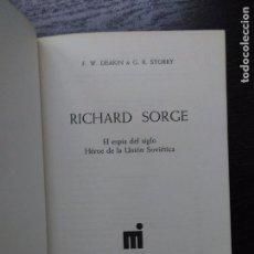 Libros de segunda mano: RICHARD SORGE, EL ESPÍA DEL SIGLO, 1973. Lote 86940492
