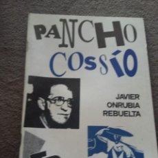 Livros em segunda mão: PANCHO COSSÍO. JAVIER ONRUBIA REBUELTA (FALANGE, POESÍA QUE PROMETE) REF. EST 22. Lote 87443156