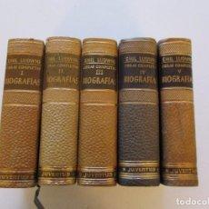 Libros de segunda mano: EMIL LUDWIG. OBRAS COMPLETAS. TOMOS I, II, III, IV Y V: BIOGRAFÍAS. CINCO TOMOS. RM81099.. Lote 87581432