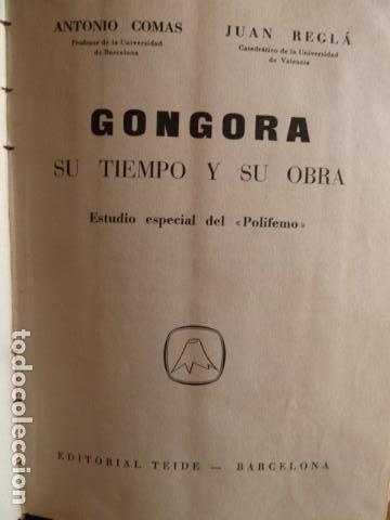 GONGORA SU TIEMPO Y SU OBRA (Libros de Segunda Mano - Biografías)