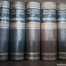 Libros de segunda mano: EMIL LUDWIG. OBRAS COMPLETAS. EDITORIAL JUVENTUD.. Lote 93252768