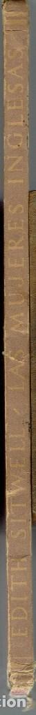 Libros de segunda mano: LAS MUJERES INGLESAS, POR EDITH SITWELL. AÑO 1945? (8.1) - Foto 3 - 93605015