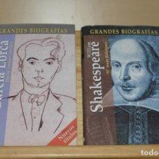 Libros de segunda mano: GRANDES BIOGRAFIAS FEDERICO GARCIA LORCA Y WILLIAM SHAKESPEARE. NUEVOS. Lote 93852635
