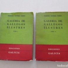 Libros de segunda mano: GALERÍA DE GALLEGOS ILUSTRES. VOLÚMENES 1, 2, 3 Y 4. DOS TOMOS. RM82061.. Lote 94714839