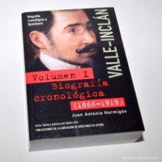 Libros de segunda mano: VALLE INCLÁN - BIOGRAFÍA CRONOLÓGICA (1866- 1919) VOLUMEN I. Lote 97147135
