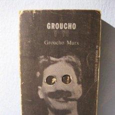 Libros de segunda mano: GROUCHO Y YO (AUTOBIOGRAFÍA DE GROUCHO MARX) CINE, BIOGRAFÍA. Lote 97179111