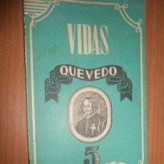 Libros de segunda mano: ANTONIO ESPINA FRANCISCO DE QUEVEDO MADRID 1945. Lote 97285175