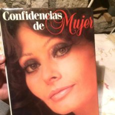 Libros de segunda mano: ANTIGUO LIBRO CONFIDENCIAS DE MUJER ESCRITO POR SOPHIA LOREN AÑO 1984 POR EDITORIAL PLAZA Y JANES . Lote 99246987