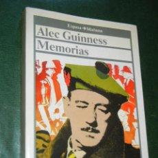 Libros de segunda mano: CINE: MEMORIAS DE ALEC GUINNESS. Lote 99632535