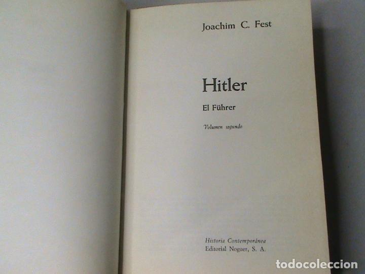Libros de segunda mano: Hitler (2 tomos) (autor: Joachim C. Fest) - Foto 3 - 102038379