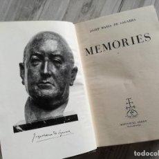 Libri di seconda mano: MEMÒRIES, JOSEP MARIA DE SAGARRA (PRIMERA EDICIÓ, BARCELONA, 1954). Lote 102834231