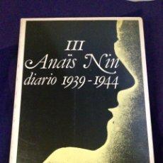 Libros de segunda mano: ANAIS NIN, DIARIOS. 1939-44. PRIMERA EDICIÓN 1977 EDITORIAL RM. Lote 103453242