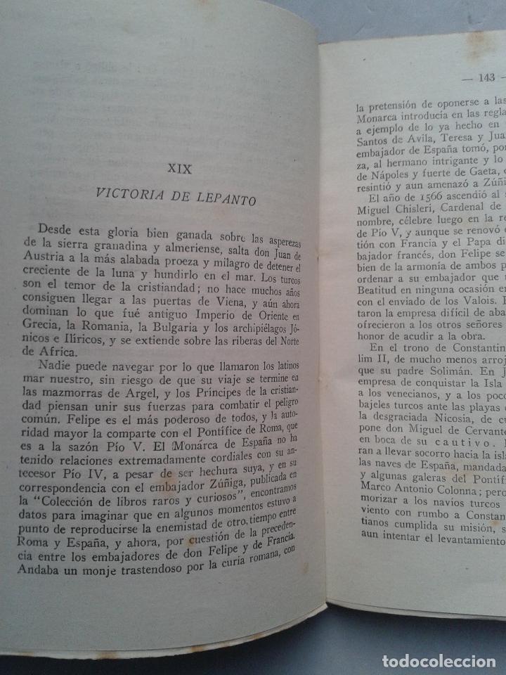 Libros de segunda mano: Felipe II. Rey de España y Monarca del Universo. Mariano Tomás. Año 1942. - Foto 3 - 104807291