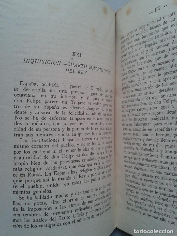 Libros de segunda mano: Felipe II. Rey de España y Monarca del Universo. Mariano Tomás. Año 1942. - Foto 4 - 104807291