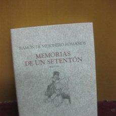 Libros de segunda mano - MEMORIAS DE UN SETENTON. RAMON DE MESONERO ROMANOS. EDICIONES CATEDRA 2009 - 104967459