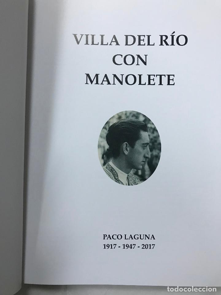 Libros de segunda mano: villa del rio (CÓRDOBA) con manolete, 1917-1947-2017, paco laguna, magnifico libro centenario, M. IL - Foto 3 - 105377859