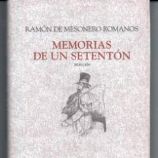 Libros de segunda mano - MEMORIAS DE UN SETENTON. SELECCION. RAMON DE MESONERO ROMANOS. CATEDRA. 2009. TAPA DURA - 105555487