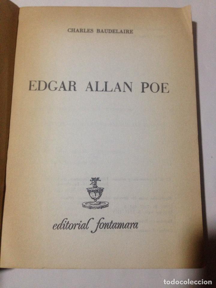 Libros de segunda mano: Edgar Allan Poe. Charles Baudelaire (Trad. y pról. Emili Olcina). - Foto 3 - 180433673