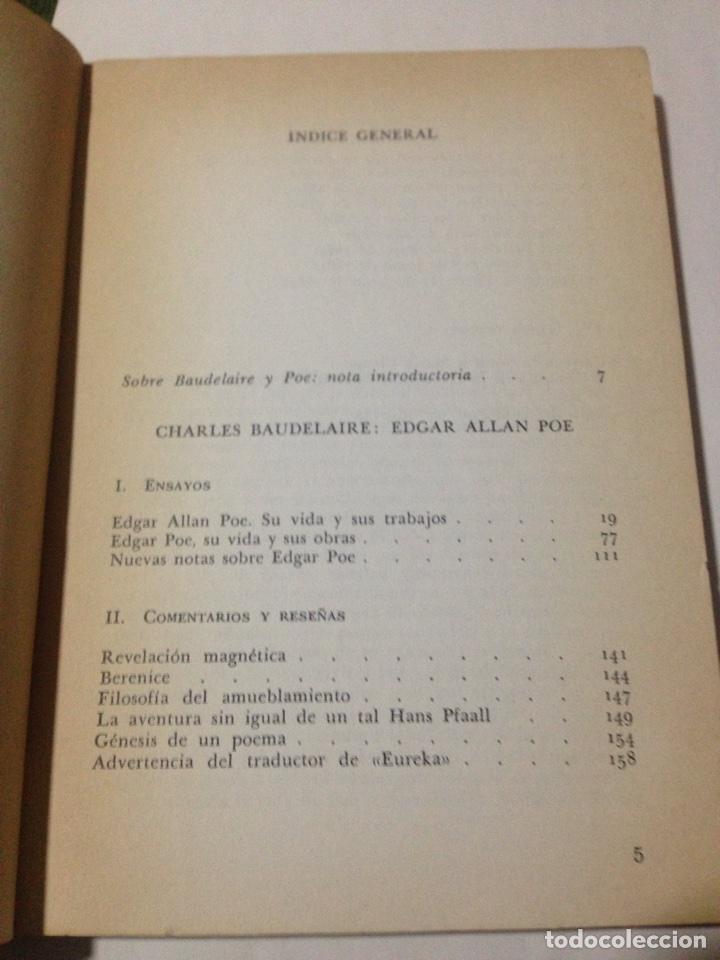 Libros de segunda mano: Edgar Allan Poe. Charles Baudelaire (Trad. y pról. Emili Olcina). - Foto 5 - 180433673