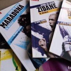 Libros de segunda mano: RAÚL ZIDANE RONALDO Y MARADONA. GENIOS DEL BALÓN. Lote 106088147