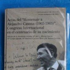Libri di seconda mano: ACTAS DEL HOMENAJE A ALEJANDRO CASONA, CONGRESO INTERNACIONAL EN EL CENTENARIO DE SU NACIMIENTO. Lote 140073020