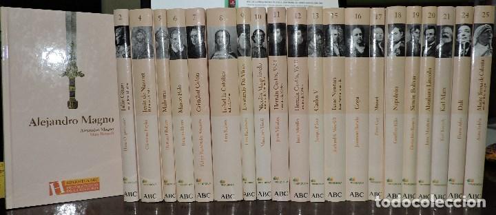 BIBLIOTECA ABC PROTAGONISTAS DE LA HISTORIA. TOMOS DEL 1 AL 25 (EXCEPTO EL 3, 14, 22 Y 23) (Libros de Segunda Mano - Biografías)