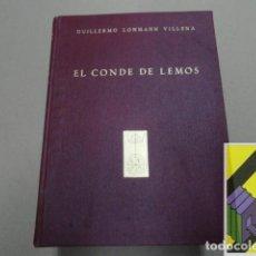 Libros de segunda mano: LOHMANN VILLENA, GUILLERMO: EL CONDE DE LEMOS,VIRREY DEL PERÚ. Lote 109542771