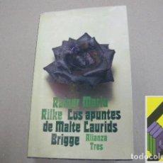 Libros de segunda mano: RILKE, RAINER MARÍA: LOS APUNTES DE MALTE LAURIDS BRIDGGE.(TRAD:FRANCISCO AYALA). Lote 112970735