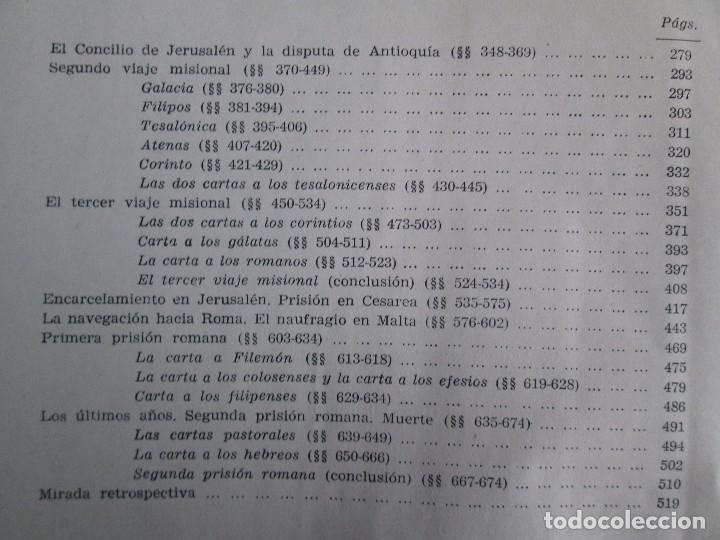 Libros de segunda mano: PABLO APOSTOL. GIUSEPPE RICCIOTTI. EDITORIAL CONMAR 1950. VER FOTOGRAFIAS ADJUNTAS - Foto 18 - 113010259