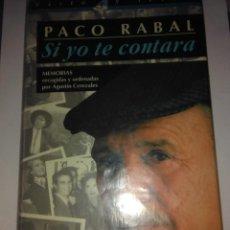 Libros de segunda mano: SI YO TE CONTARA ( PACO RABAL ) . AGUSTÍN CEREZALES ( AGUILAR/EL PAIS ). Lote 113192983