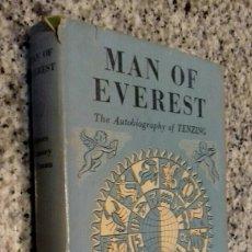 Libros de segunda mano: MAN OF EVEREST THE AUTOBIOGRAPHY OF TENZING. Lote 113207090