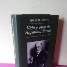 Libros de segunda mano: ERNEST JONES - VIDA Y OBRA DE SIGMUND FREUD - EDITORIAL ANAGRAMA 2003. Lote 115317035