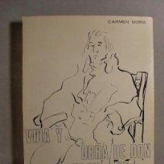 Libros de segunda mano: VIDA Y OBRA DE DON IGNACIO DE ASSO / CARMEN MORA / 1972 / DEDICATORIA AUTÓGRAFA DE LA AUTORA. Lote 140691936