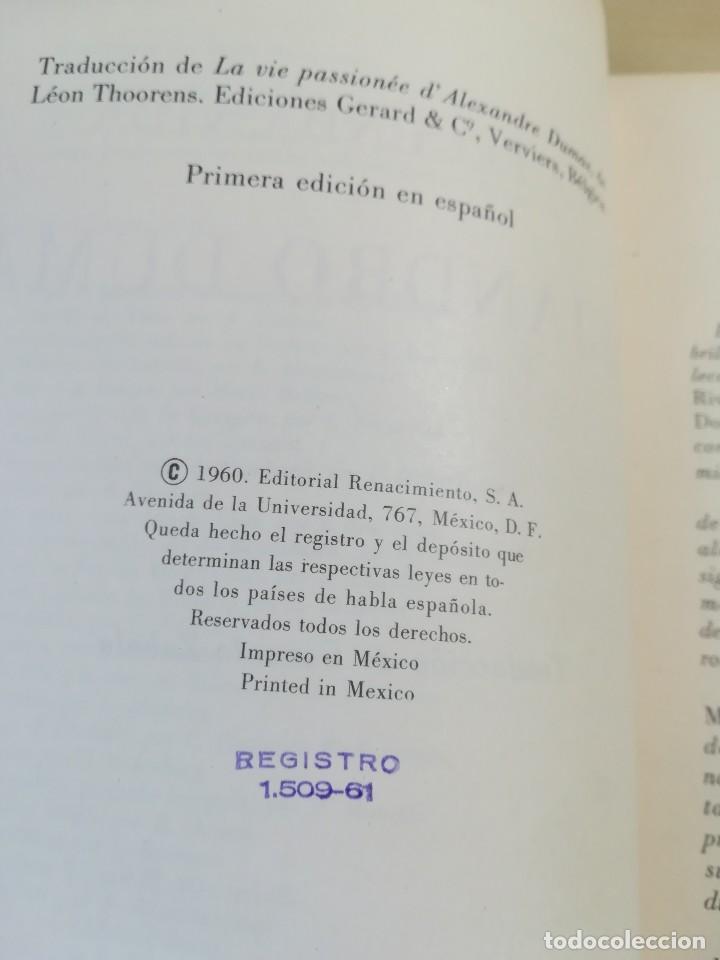 Libros de segunda mano: La fecunda vida de Alejandro Dumas--Leon Thoorens-Editorial Renacimiento-1º edición-1960 - Foto 5 - 117093095